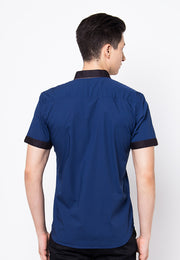 Cover.9 - Slim Collar Shirt Navy