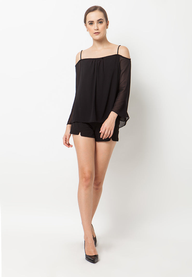 Off Shoulder Top - Black