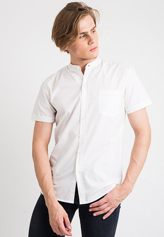 Basic Mandarin Collar Shirt