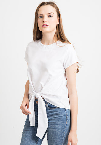 Basic Knotted Top - white