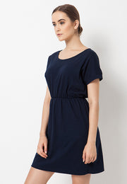 Flow Tee Dress - Navy