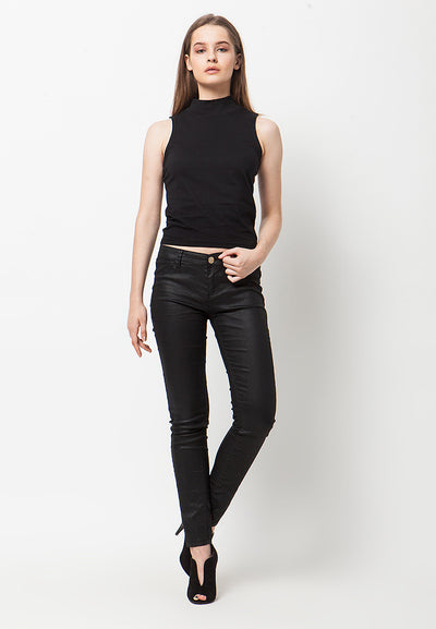 Turtle Neck Tank - Black
