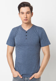 Henley Short sleeves shirt - Navy