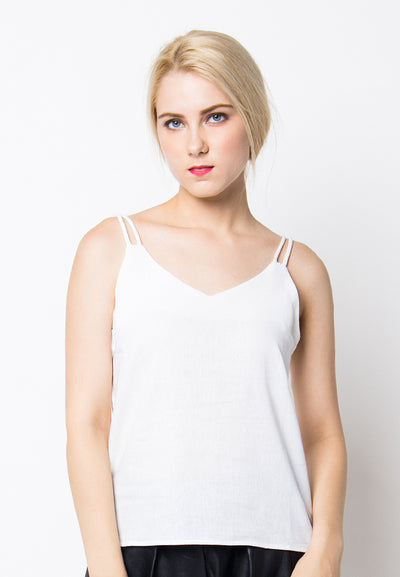 Cover.9 - Double Strap Top White