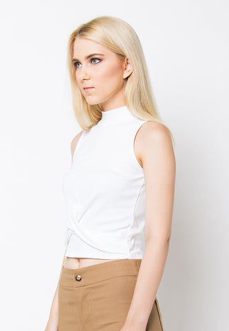 Cross Front Top - White