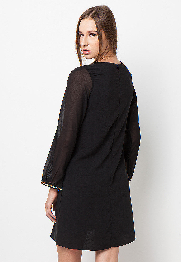 Contrast Sleeves Dress