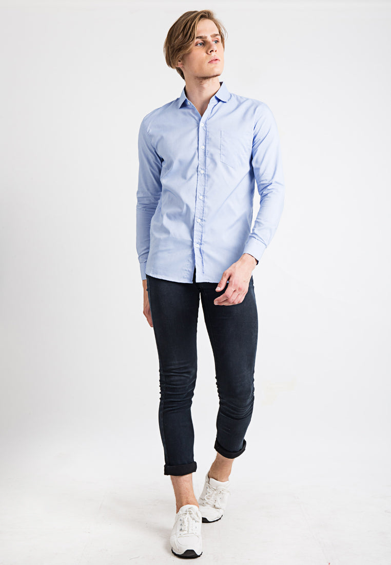 Basic Slim Fit Long Sleeves Shirt