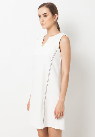 Loose Contrast Dress