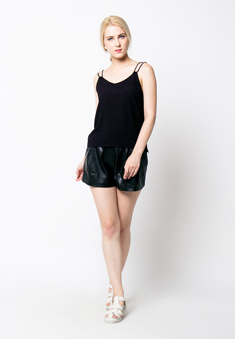 Cover.9 - Double Strap Top -Black