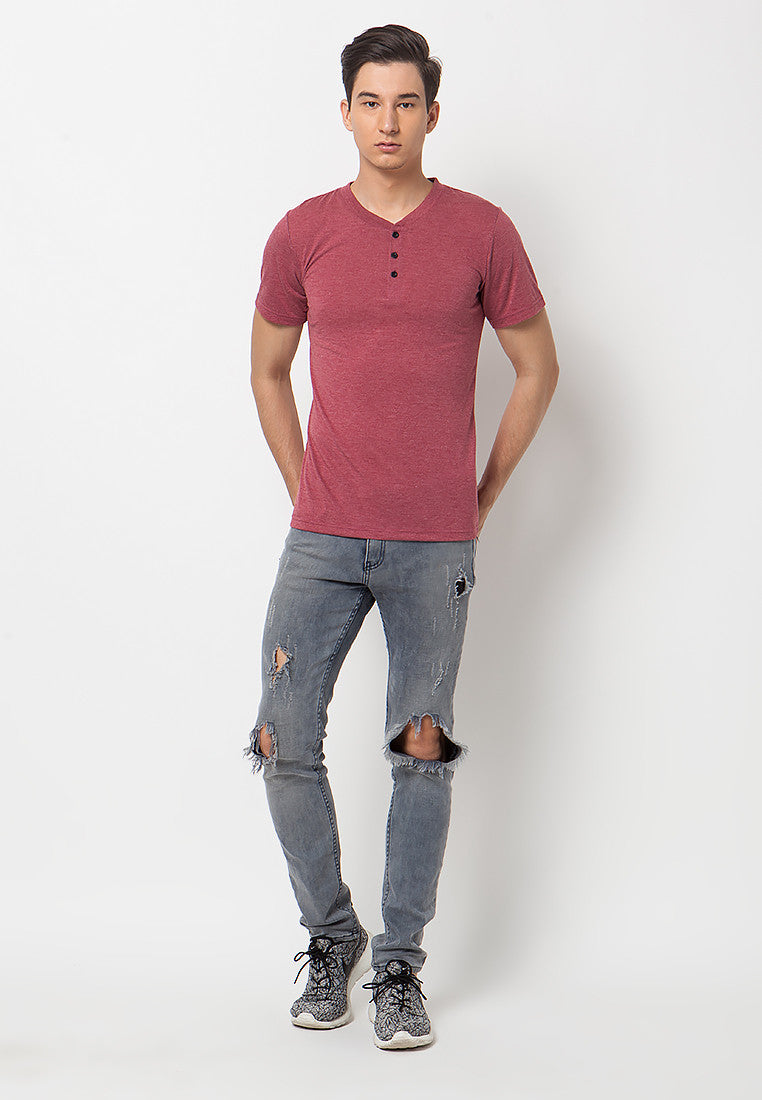 Henley Short sleeves shirt - Red