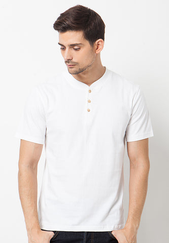 Henley Short sleeves shirt - White