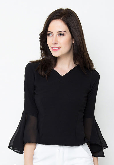 Catlyn Blouse -Black