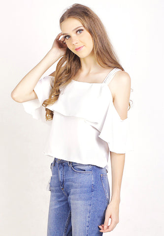 Triple Strap Off Shoulder Top