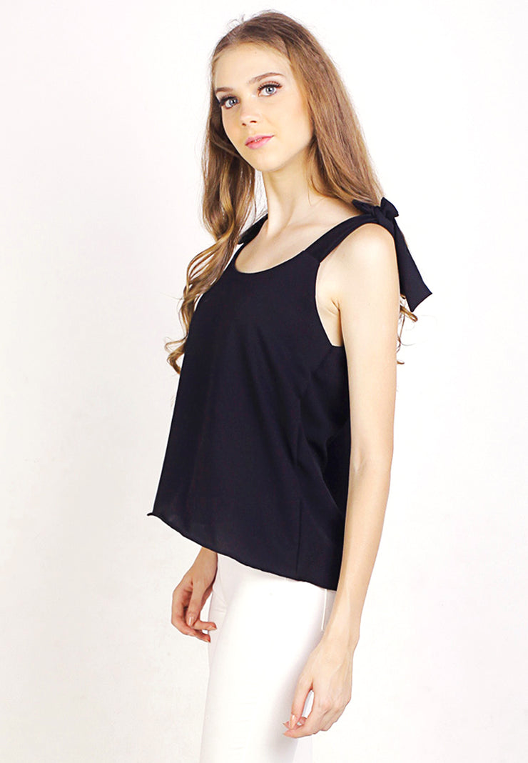 Sleeveless Ribbon Top