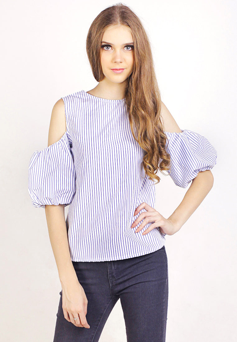 Cold Shoulder Puff Sleeves top