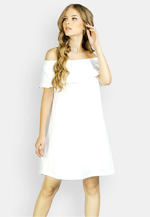 Open image in slideshow, Sabrina Dress White