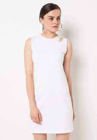 Detail Basic Dress - White