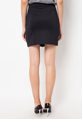 Basic Midi Skirt Black