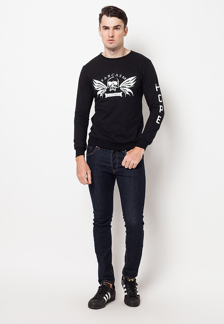 Sarcasm Basic Sweater Black