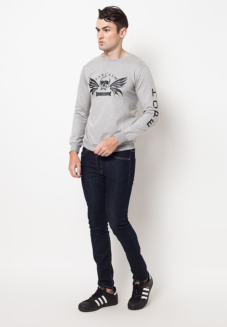 Sarcasm Basic Sweater Grey