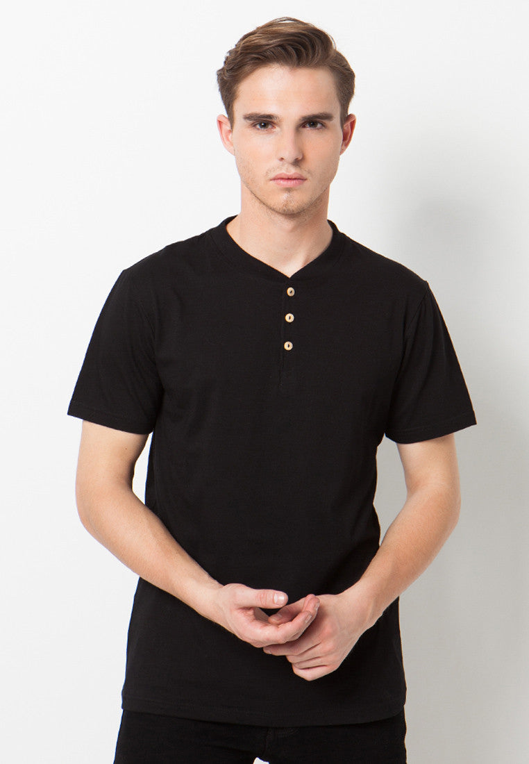 Henley Short sleeves shirt - Black