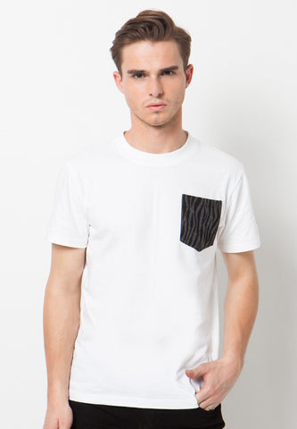 Roar Pocket T-Shirt White