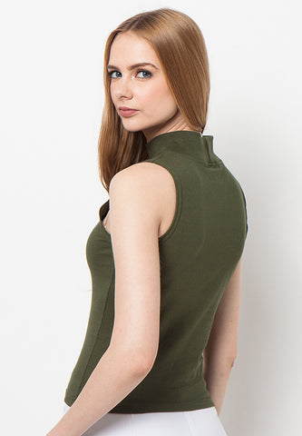 Turtle Neck Tank - Green