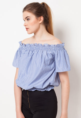 Curl Striped Top - Blue