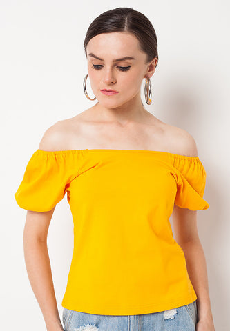 Sabrina Fluffy Tee - Yellow