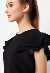 Ruffle Blouse Black