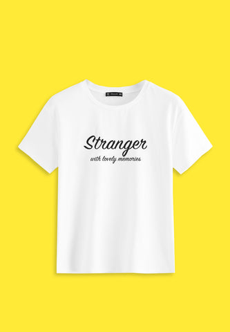 T-shirt with text