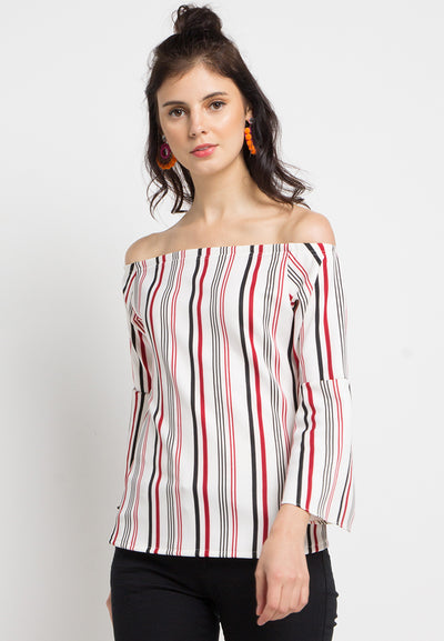 Striped Sabrina with Bell