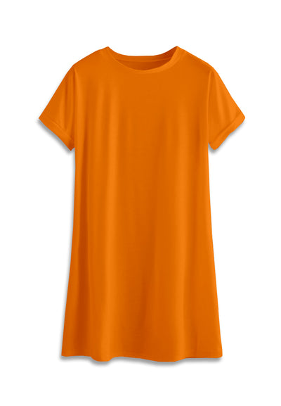 T-Shirt Mini Dress - Orange