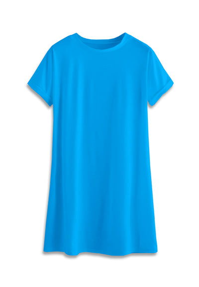 T-Shirt Mini Dress - Turquoise