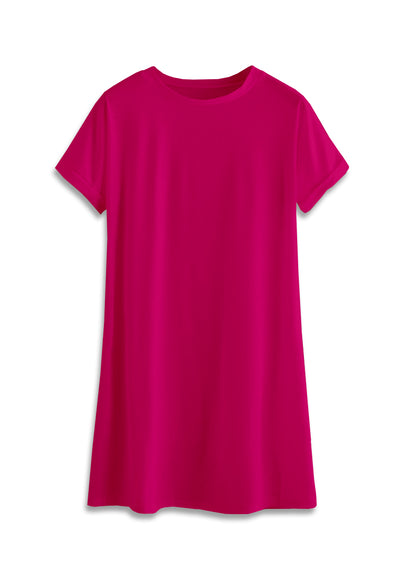T-Shirt Mini Dress - Fuchsia