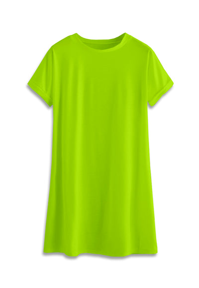 T-Shirt Mini Dress - Neon Green