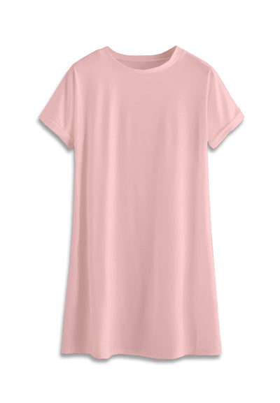 T-Shirt Mini Dress - Baby pink