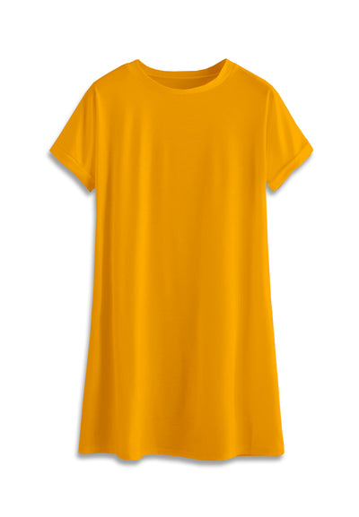 T-Shirt Mini Dress - Mustard