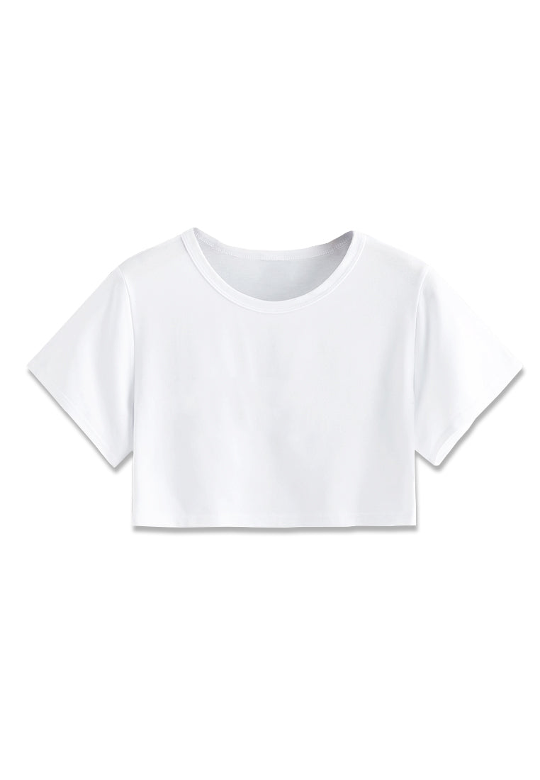 Basic Crop Top - White