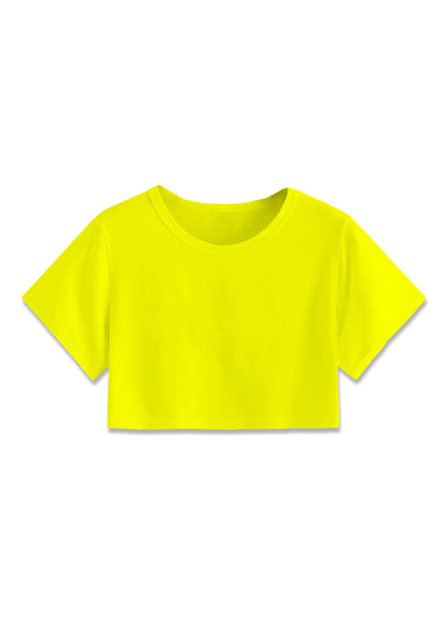 Basic Crop Top - Yellow