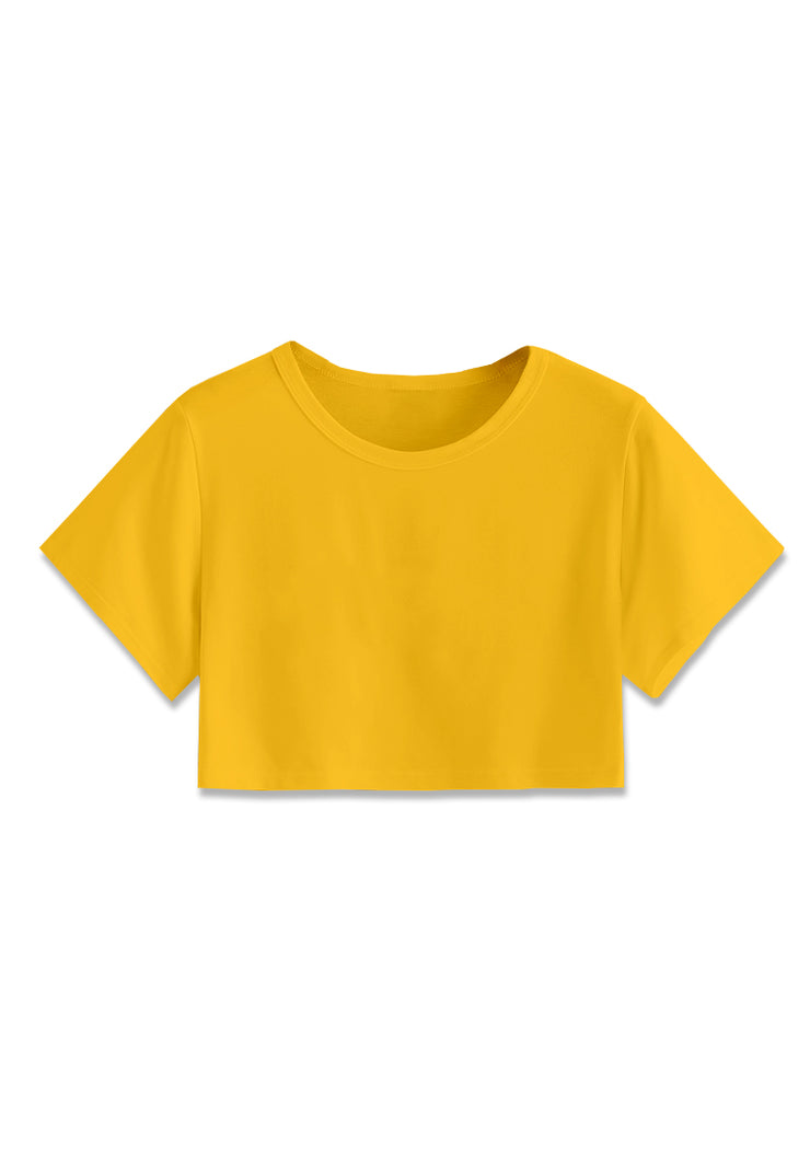 Basic Crop Top - Mustard