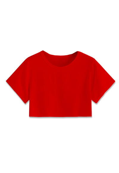 Basic Crop Top - Red