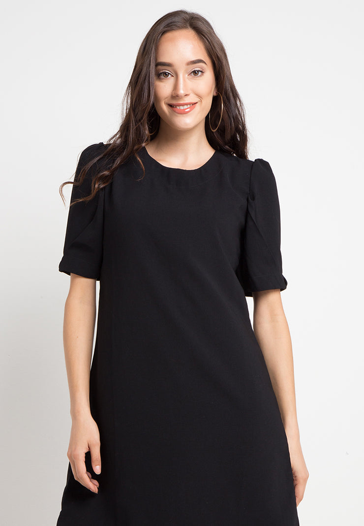 Basic A Line Dress - Black