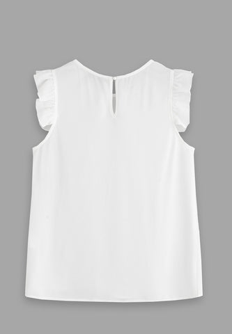 Ruffle Sleeve - White
