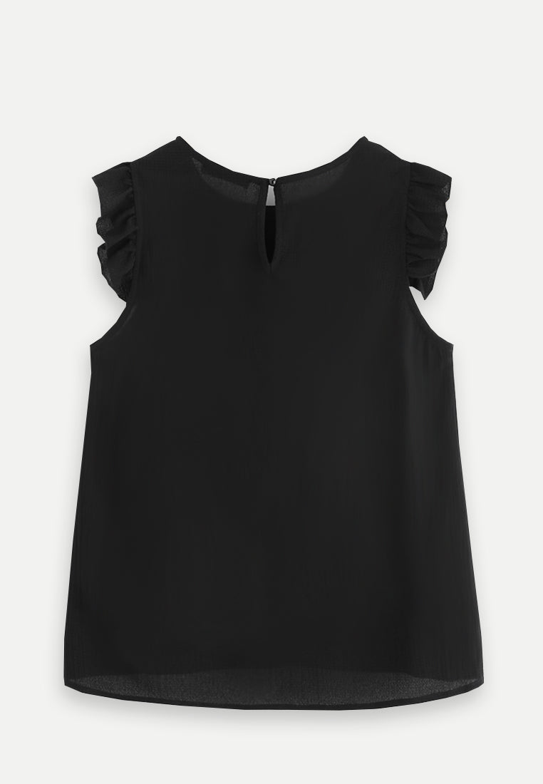 Ruffle Sleeve - Black