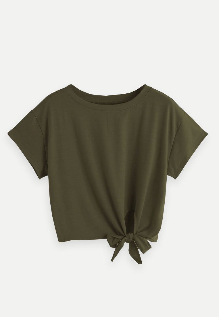 T-shirt with knotted detaill