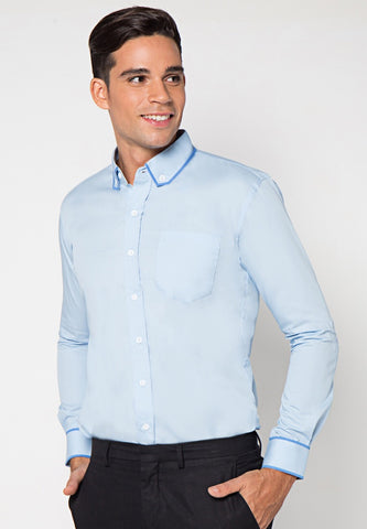 Judge.Man Gustavo Shirt - Cyan