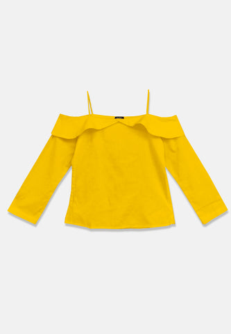 Sabrina Top Long Sleeve - Mustard