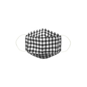 Cotton Face Mask With Filter Pocket - LARGE SIZE / FOR MEN - Gingham