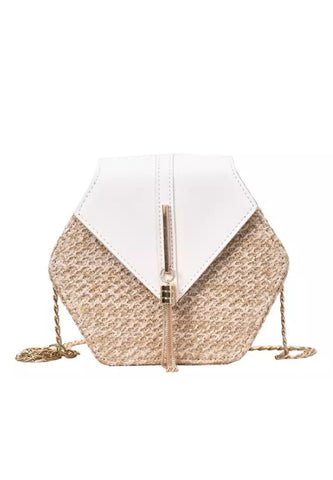 Rattan Mini Bag - White